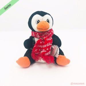 [Coca-Cola] 98 Penguin in Snowflake Scarf Plush